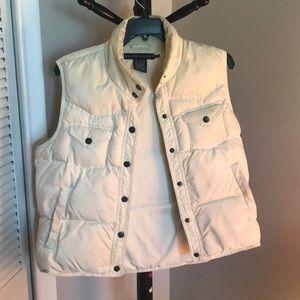 Ralph Lauren white Down vest